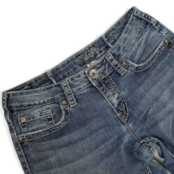 Silver Women's Aiko Bootcut Jeans Altered Wear